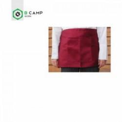 Avental cintura curto em sarja preto/branco/bordeaux 87*32cm 004