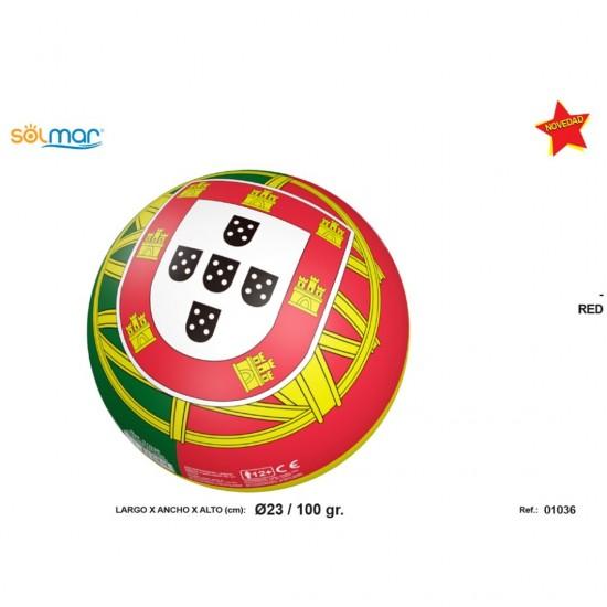 Bola portugal em borracha d230 100gr 01036