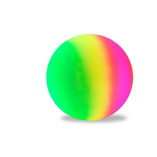 Bola borracha neon arco-iris d230 01061