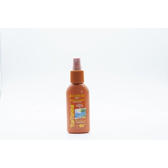 Leite bronzeador intensivo spray 50+ 100ml 0203003