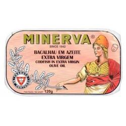 Minerva bacalhau azeite virgem extra gourmet 120gr