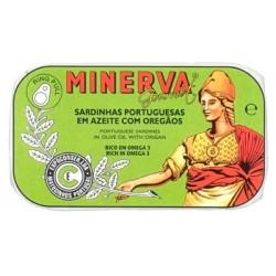 Minerva sardinhas azeite orégãos gourmet 120gr
