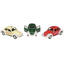 Carro metal volkswagen beetle policia 12cm 12157