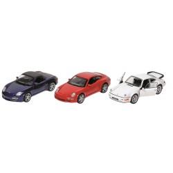 Carros sortidos da Porsche em metal 12cm 12178