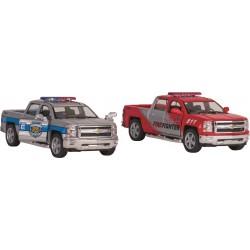 Carrinha  metal Chevrolet caixa aberta da policia\bombeiros 13cm 12261