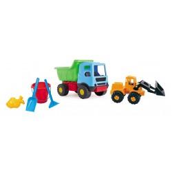 Conjunto praia camião maquina, balde 84*33*24 cm 13093