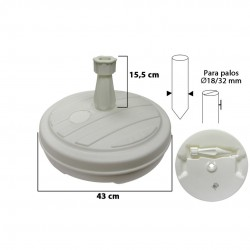Base plástico para chapéu jardim d43 13L  15125
