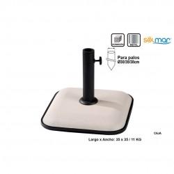 Base quadrada em cimento branco 11kg 35*35cm 15141
