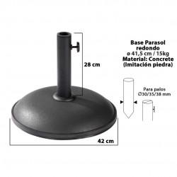 Base chapéu redonda preta d24cm 15kg 15150