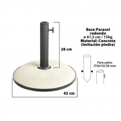 Base chapéu redonda branca d24cm 15kg 15151
