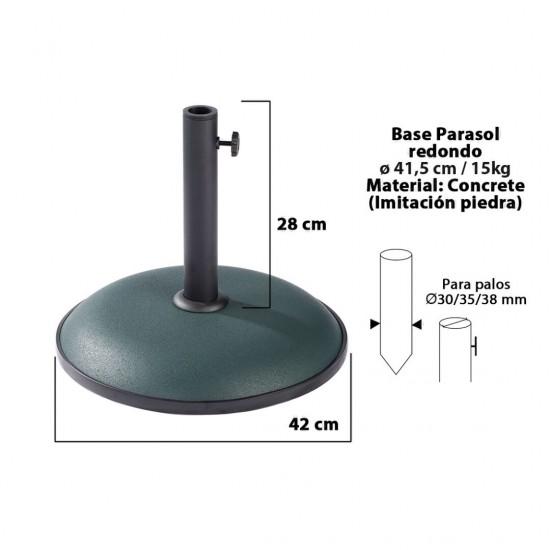 Base chapéu redonda verde d24cm 15kg 15152