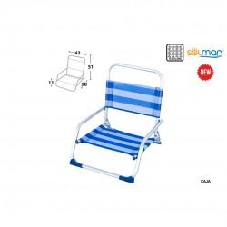 Cadeira alumínio baixa areia 43x28x11cm 15366
