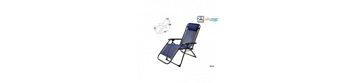 Cadeiras em Tubo ou Plástico - Praia, Jardim, Campismo