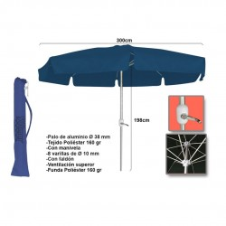 Chapéu c\manivela alumínio poliéster azul 3m 15824