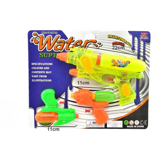 Pistola água  22*11cm em blister c\3  16587