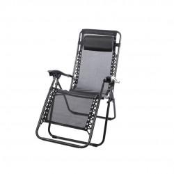 Cadeira alta ferro c\ posições preta 160*60*80cm 173400