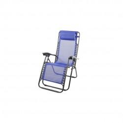 Cadeira alta ferro c/ posições azul 160*60*80cm 173402