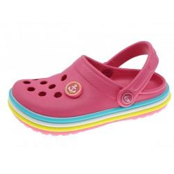 Clogs de menina cor de rosa 30-35 2182814