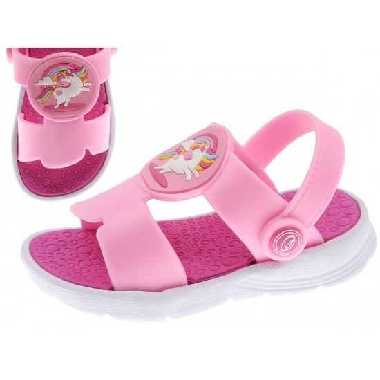 Sandália menina rosa 20-24 2184701