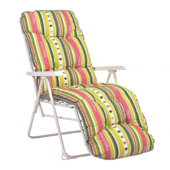 Cadeira relax em ferro c\posições 94*58*140cm 243b