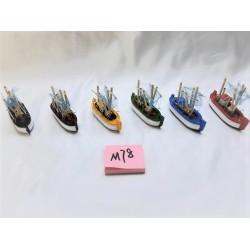 Barcos de madeira 8cm 246500
