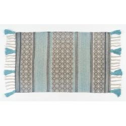 Carpetes delfos coloridas e franjas 120*160cm