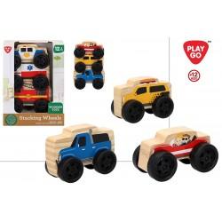 Conjunto de 3 carros de madeira 14cm x 6cm x 19.50cm - 46405