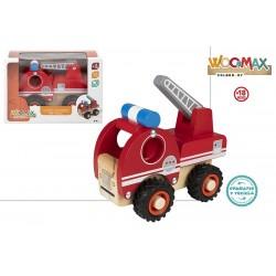 Camião em madeira dos bombeiros 14cm x 8cm - 46463