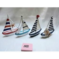 Barco madeira c\velas 12cm 465001