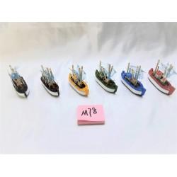 Barcos madeira c\velas 12cm 465003