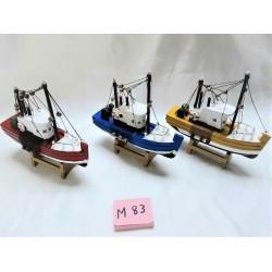 Barcos madeira c\ velas 16cm 465101