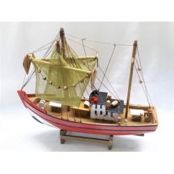 Barco madeira c\velas 30cm 465102