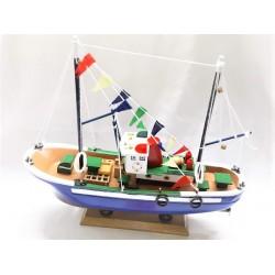 Barco madeira c\velas 30cm 4651021