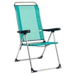 Cadeira alta alumínio posições 102x64x80 470alf