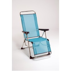 Cadeira alta relaxe alumínio 102x65x13 cm c\posições 480ALF