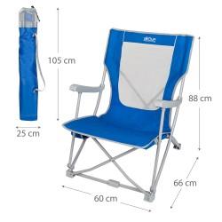 Cadeira de campismo azul em ferro 59*68*78cm 52838