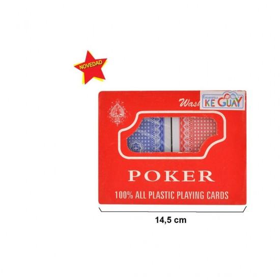 Conj. 2 baralhos cartas plastico poker 53415