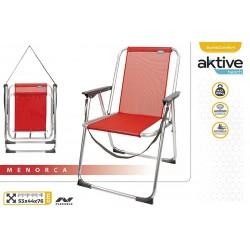 Cadeira alta fixa alumínio 53*44*76cm 53967