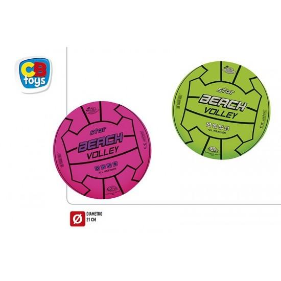Bola borracha volley d21cm fluor 105grm 54060