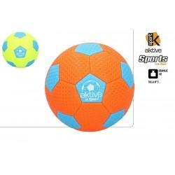 Bola futebol praia aktive neon nº5 54077