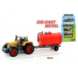 Trator c\atrelado metal 16cm 55097