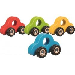 Carro madeira com rodas de borracha 13,5 x 7 x 8 cm 55935