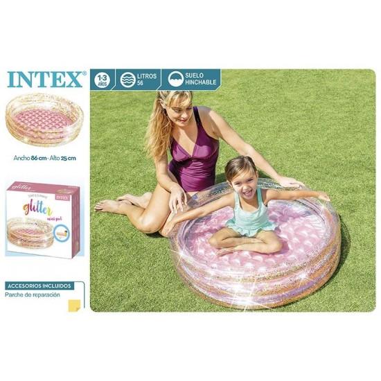 Piscina criança c\purpurina intex 86*25cm 57103