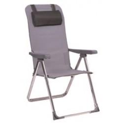 Cadeira alumínio c\posições almofada alta 95x65x25cm  573alf