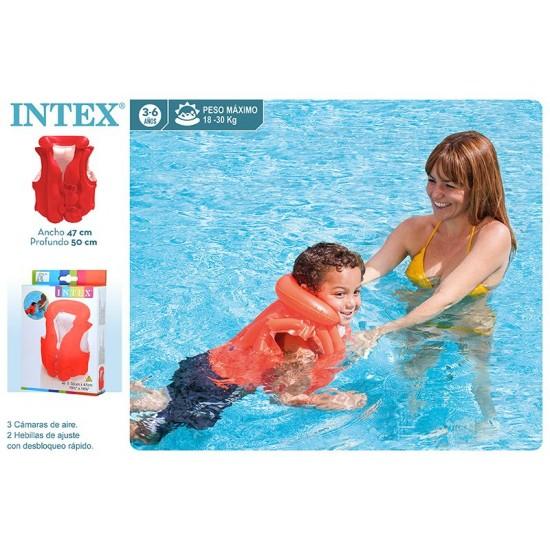Colete criança insuflável piscina\praia 50*47cm  3-6 anos 58671