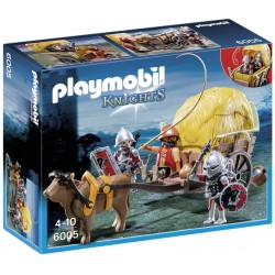 Playmobil med. cavaleiros falcão c/carroça 6005