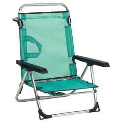 Cadeira areia alumínio posições 72x60x15cm  606alf