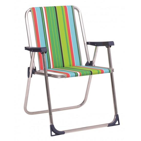 Cadeira alumínio almofadada 74x56x25 cm 620AL