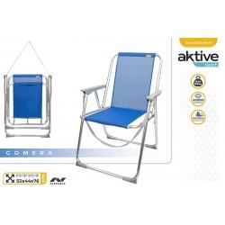 Cadeira alta fixa alumínio 53*44*76cm 62606