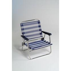 Cadeira areia baixa alumínio 62x58x26 cm 630ALF